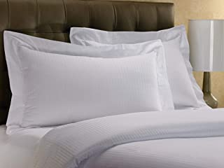 Westin Hotel Pillow Sham - 1 Classic Pillow Sham - White with Signature Micro-Stripe Pattern - Queen (20