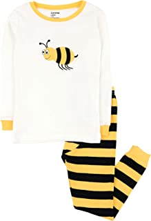 Image of Black and Yellow Striped Bumble Bee Pajamas for Boys - See More Designs