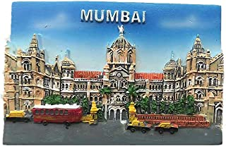 3D Mumbai India Fridge Magnet,Home & Kitchen Decoration Magnetic Sticker Mumbai India Refrigerator Magnet Tourist Souvenir Gift
