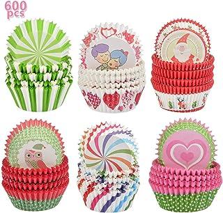 YANSHON 600pcs Caissettes Cupcake - Caissettes en Papier pour Muffin Cupcake, Caissettes Papier Muffins Moule, Caissettes ...