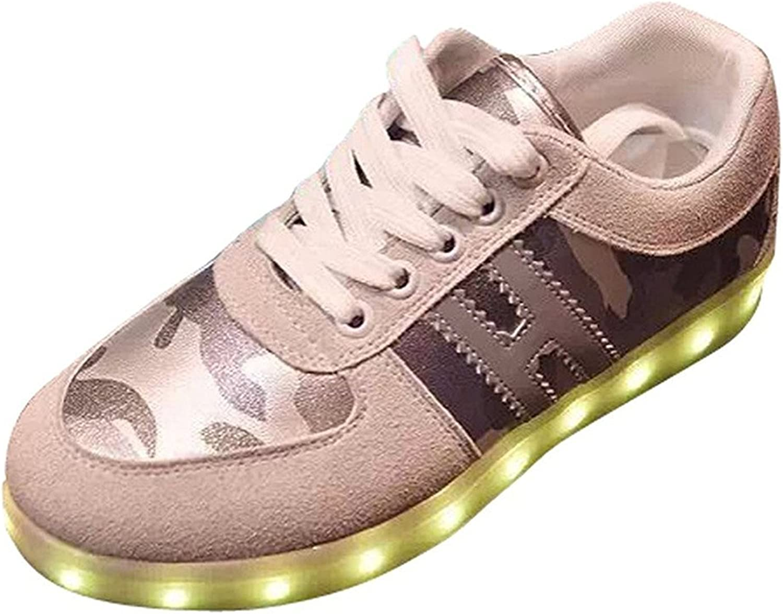 Hanglin Trade Unisex Men Women USB Charging LED Sport shoes Flashing Sneakers for Christmas