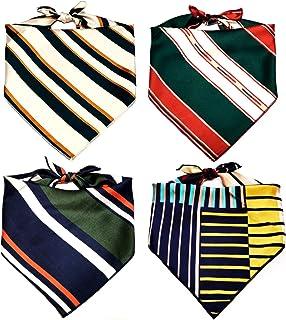 Dog Bandanas, 4 Packs KOOLMOX Square Dog Scarfs for Small Medium Large Dogs Cats Puppies, Adjustable Dog Handkerchiefs Ker...