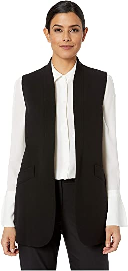 Open Collarless Long Jacket
