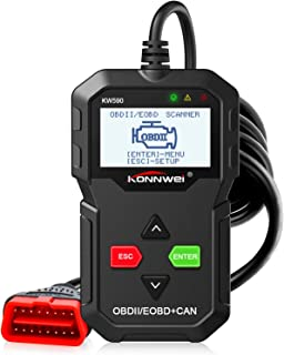 KONNWEI OBD2 Scanner, KW590 Car Code Reader with Class Enhanced Universal Automotive Check Engine Light Reader, CAN Diagnostic Scan Tool and Full OBDII EOBD Functions for all Cars after 1996
