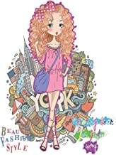 Beauty Fashion Style: Coloring Book for Girls Ages 4-8