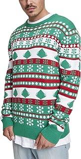 Urban Classics Men's Snowflake Christmas Tree Sweater Sweatshirt