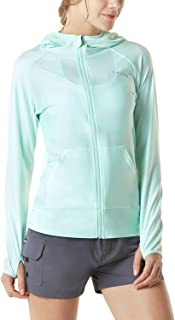 TSLA Women's UPF 50+ Zipper Rash Guard, Water Sufing Long Sleeve Swimsuit, UV/Sun Protection Swim Shirts Wetsuit Top