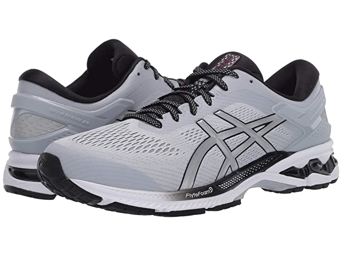 ASICS  GEL-Kayano 26 (Piedmont Grey/Pure Silver) Mens Running Shoes