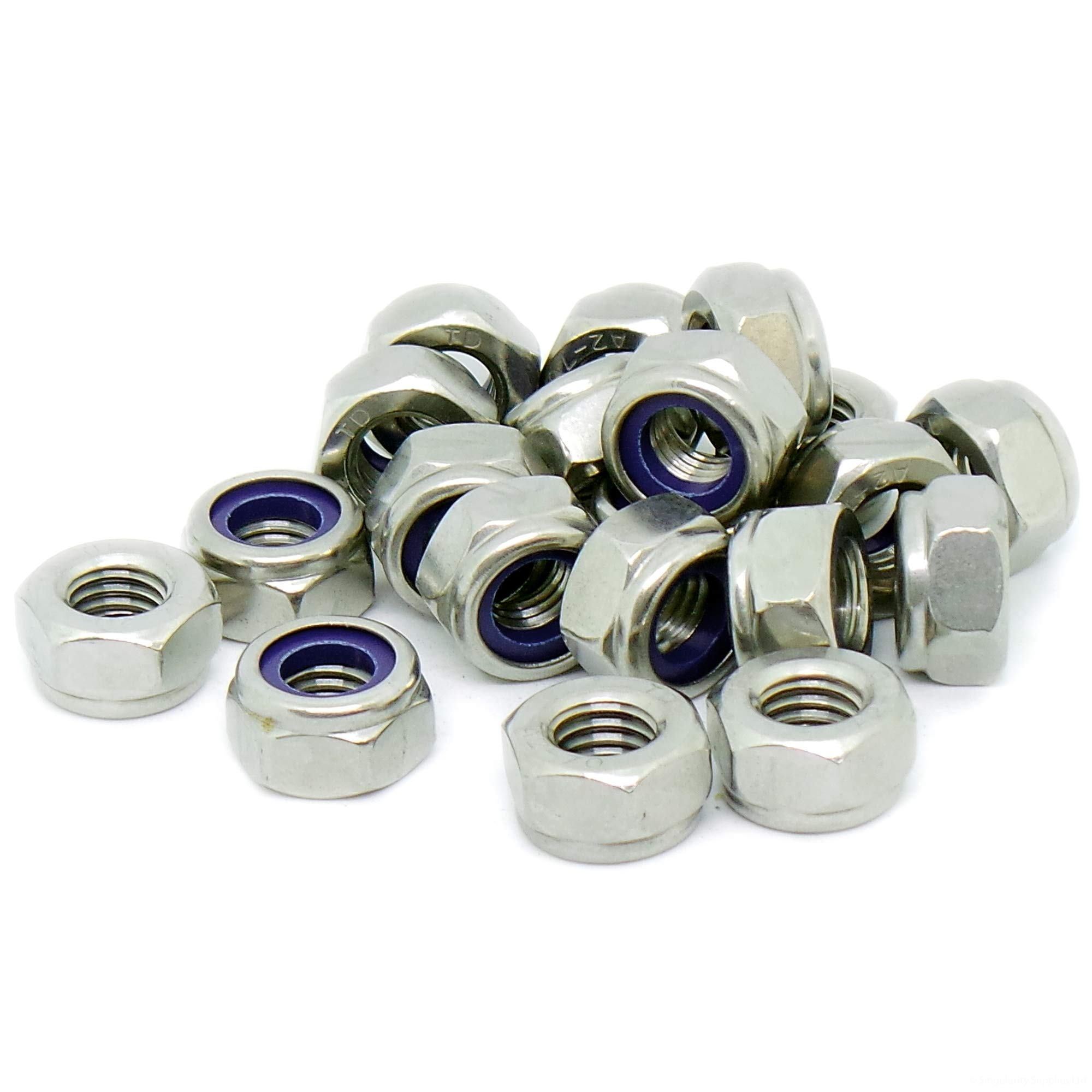 M10 Black Stainless Steel Nyloc Nuts To Fit Our Coloured Stainless Bolts Screws