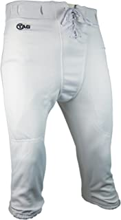 Adult Slotted Football Pants X-Small (White) Waist (21-23in)