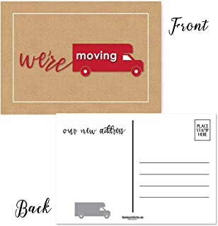 Moving Van Postcards - 50 Moving Announcement Postcards - 4 x 6 Moving Postcards - Change of Address Fill in the Blank Postcards - New Business Address, New Home Address