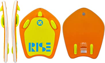 ZUP Rise and Boogie All-in-One Watersports Board, Wakeboard, Kneeboard, Wakesurf Board, Water Skis for Water Sports, Boating, Orange