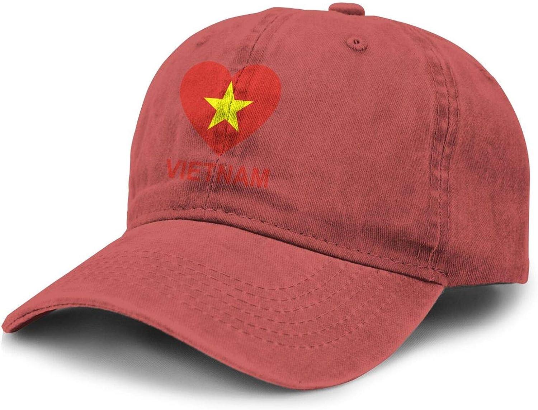 Love Vietnam Adult Curved Brim Baseball Hat Sports Cowboy Cap