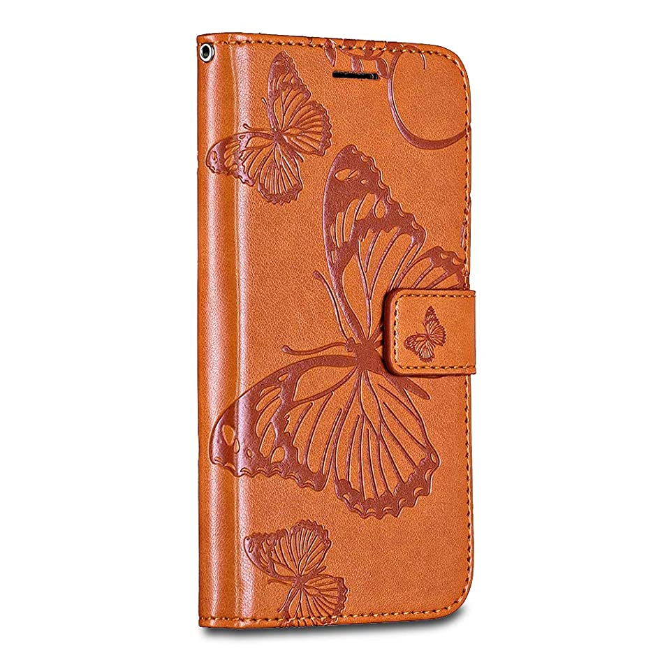 第幸運乗り出すBravoday Huawei P8 ケース 手帳型 高級PUレザー Huawei P8 ケース 財布型 高品質 レザー カバー カード収納 マグネット スタンド機能 人気 おしゃれ 耐衝撃 耐摩擦 オレンジ