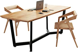 Dining Table, Pine Dining Table and Chair Combination Office Desk Kitchen Furniture Office Furniture Tabletop Thickness 5c...