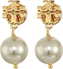 Tory Burch - Crystal Pearl Drop Earrings