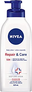 NIVEA Repair & Care 72H Body Lotion for Extra Dry Skin 625ml, Skin Lotion with Provitamin B5 for Very Dry Skin, 72H Hydrat...