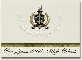 Signature Announcements San Juan Hills High School (San Juan Capistrano, CA) Graduation Announcements, Presidential Basic Pack 25 with Gold & Black Metallic Foil seal