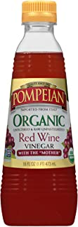 Pompeian Gourmet Organic Red Wine Vinegar, Unfiltered and Unpasteurized, Perfect for Marinades, Salad Dressings and Sauces...