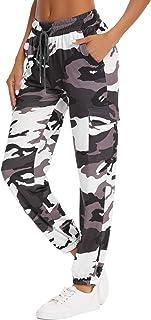 Doaraha Pantaloni Sportivi Donna Larghi Inverno in Cotone Morbido con 4 Tasches Comodo e Leggero Adatto per Jogger Fare Gi...