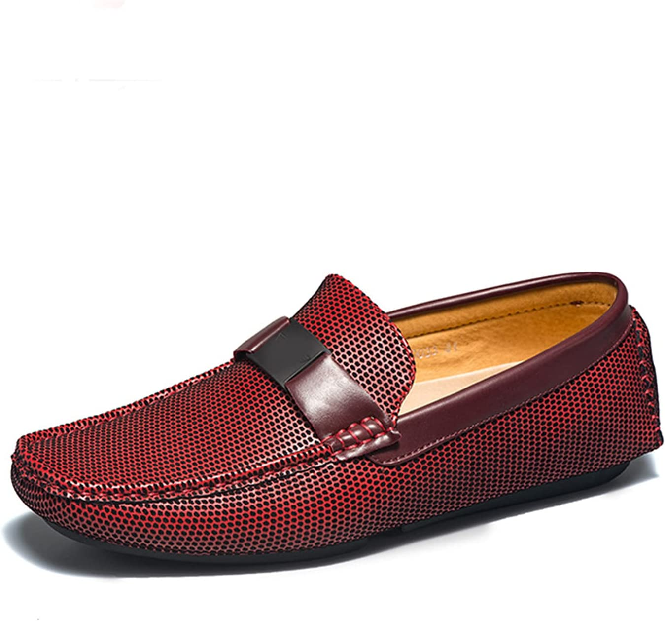 STVYtoy Men Shoes 2021 Spring Summer Autumn Fashion Loafers Shoes Men Classic Brand Leather Comfy Drive Boat Shoes,E,42