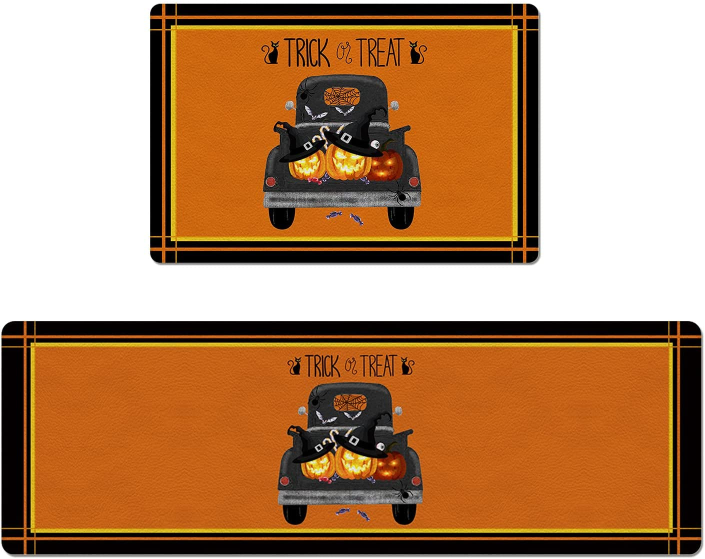 Set of 2 Kitchen Rug PVC C Leather and Gifts Non-Slip Mats Import