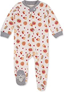 Burt's Bees Baby Baby Girls' Sleep and Play Pjs, 100% Organic Cotton One-Piece Pajamas Zip Front Loose Fit Romper Jumpsui...
