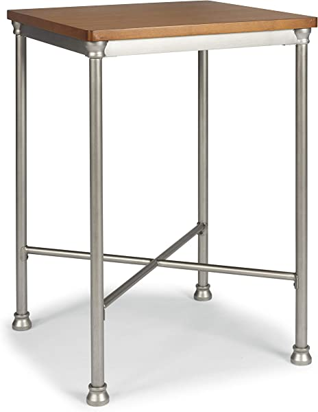 Orleans Vintage Caramel Wood Top Bar Table By Home Styles