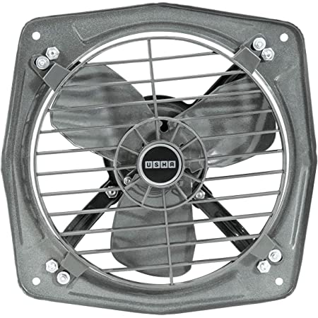 USHA Aeroclean 300MM Goodbye Oil and Dust Metal Exhaust Fan for Kitchen(Metallic Grey)