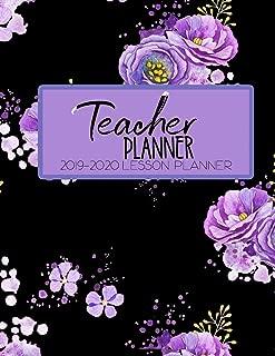 Teacher Planner 2019 - 2020 Lesson Planner: Purple Roses Black Tea Rose Weekly Lesson Plan   School Education Academic Planner   Teacher Record Book   ... Gift (Teacher Lesson Planners 2019-2020)