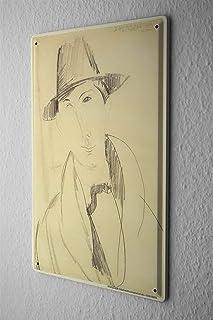 [ZUNYI]ブリキ おしゃれ 雑貨 通販 Clothes Underwear Man with Hat アンティーク 看板 室内装飾家、パブ、ビール、ガレージ、庭、コーヒー、寝室、リビングルーム [20X30CM]