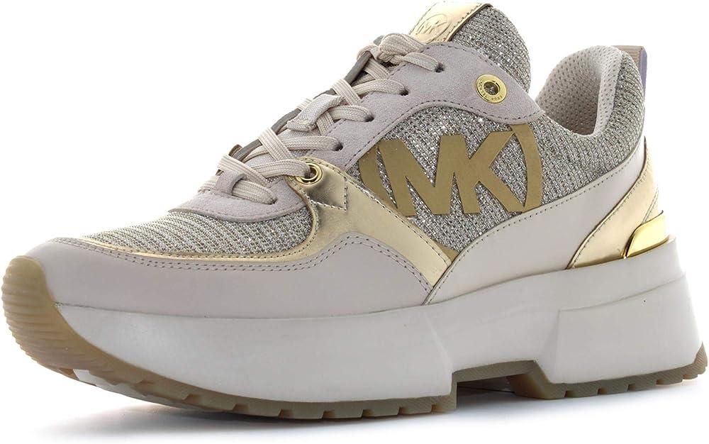 Michael kors ballard sneakers,scarpe sportive per donna,in  pelle e tessuto tecnico 3B5MK43R0BLFE7D