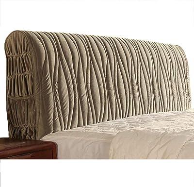 Headboard Cover Bed Slipcover Protector Thicken European Reading Pillows Grey