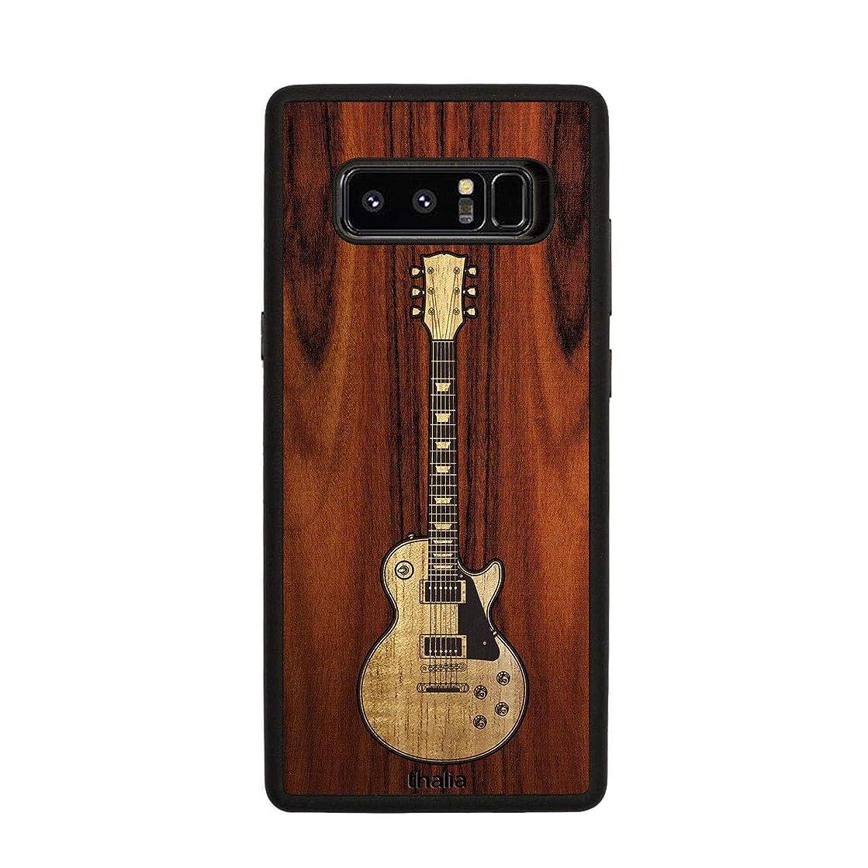 Santos Rosewood & Les Paul Hawaiian Koa Inlaid Guitar Phone Case | Thalia Exotic Wood Cases Samsung Galaxy Note 8