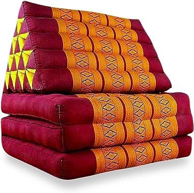 Thai Matte Kapok Dreieckskissen Thai orange Bodenkissen Kissen Lounge Sitzkissen