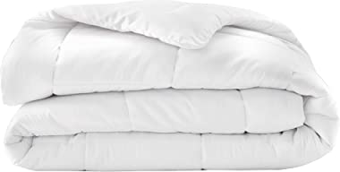 A1 HOME COLLECTIONS All Season Wool Duvet Insert or Stand Alone Comforter, Sateen Noiseless Organic Cotton Shell, Baffle Box