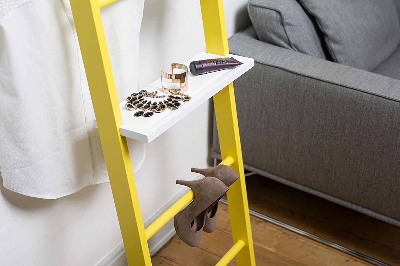 Accesorio para Escalera de Madera Maciza (Color blanco) ¡Amplía la función de tu perchero o escalera decorativa!: Amazon.es: Hogar