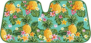 BDK Fold-up Sunshade for Windshields - Accordion Style Large Auto Shade (Pineapple)