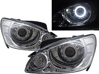 CABI Getz/Click 2005-2011 Facelift Hatchback 3D/5D Guide LED Angel-Eye Projector Headlight Headlamp Chrome for HYUNDAI LHD
