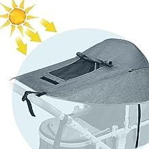Universal Kinderwagen Sonnensegel,UV Schutz 50 und Wasserdicht sonnenschutz,Kinderwagen Sonnensegel mit Sichtfenster und Extra Breite Schattenflügel für Kinderwagen und Buggy