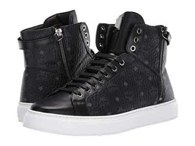 MCM High Top Lace-Up Sneaker (Black) Men