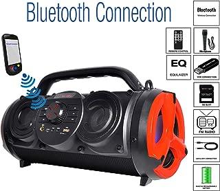 Boytone BT-18RG Portable Bluetooth Boombox Speaker, Indoor/Outdoor, 25W, Loud Sound, Deeper Bass, EQ, 5