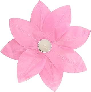 Lumabase 56106 6 Count Floating Lotus Paper Lanterns, Pink