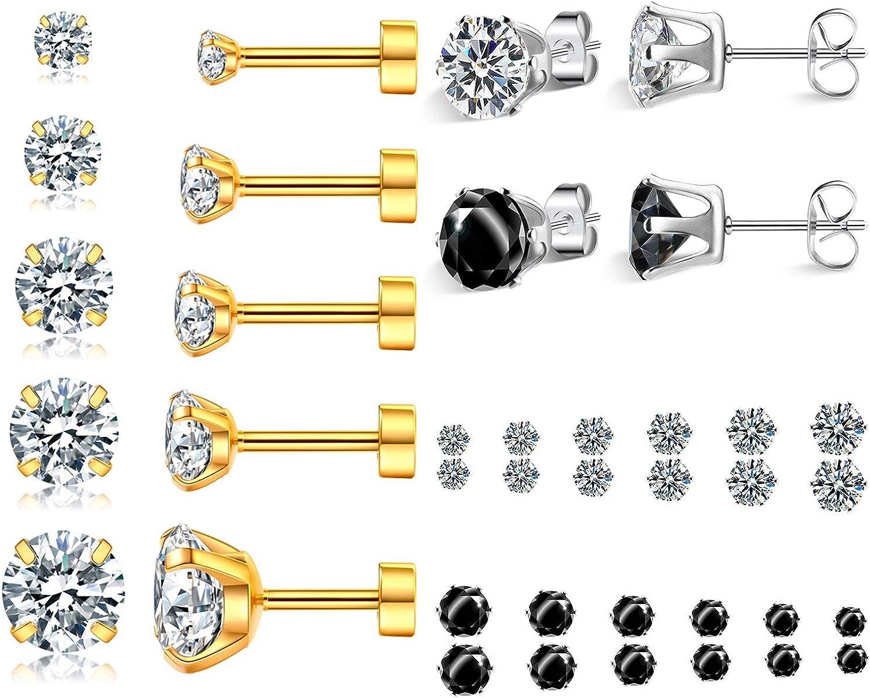 Sale Special Price Jewelry for Women Men Silver Stainless Ultra-Cheap Deals Stud Steel Piercing Earri