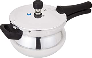 Prestige PRDAH3.3 Deluxe Plus New Flat Base Pressure Handi for Gas and Induction Stove, Small, Silver, H 22.4 x W 37.6 x D...