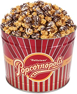 white and milk chocolate popcorn