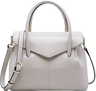 Real Leather Satchel Handbag for Women Top Handle Tote Shoulder Bag