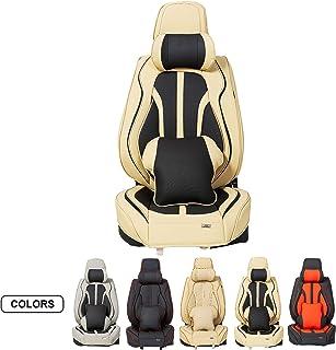 ASLONG 5 peças de capas de assento de carro H7, acessórios interiores de automóveis com couro de poliuretano à prova d'águ...