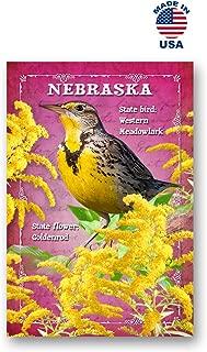 NEBRASKA BIRD AND FLOWER postcard set of 20 identical postcards. NE state symbols post cards. Made in USA.