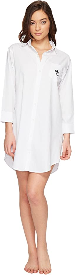 Cotton Jacquard Sleepshirt